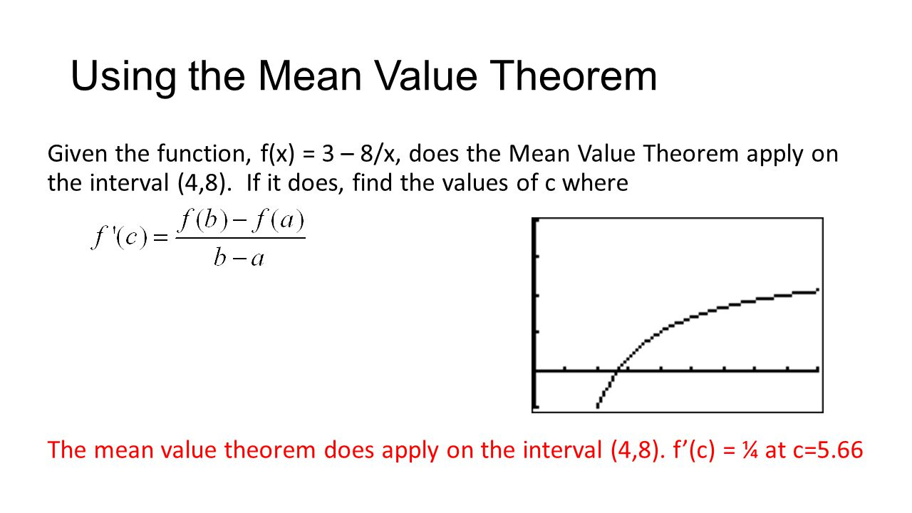 Using the Mean Value Theorem