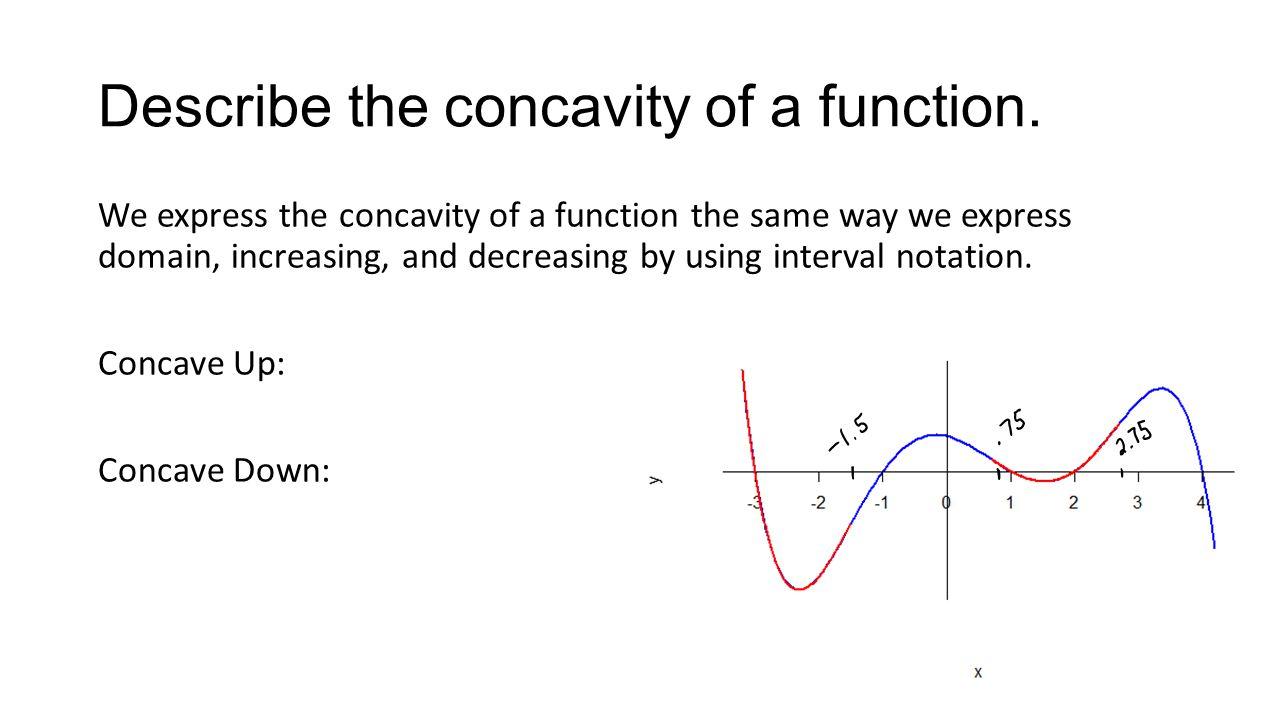 Describe the concavity of a function.