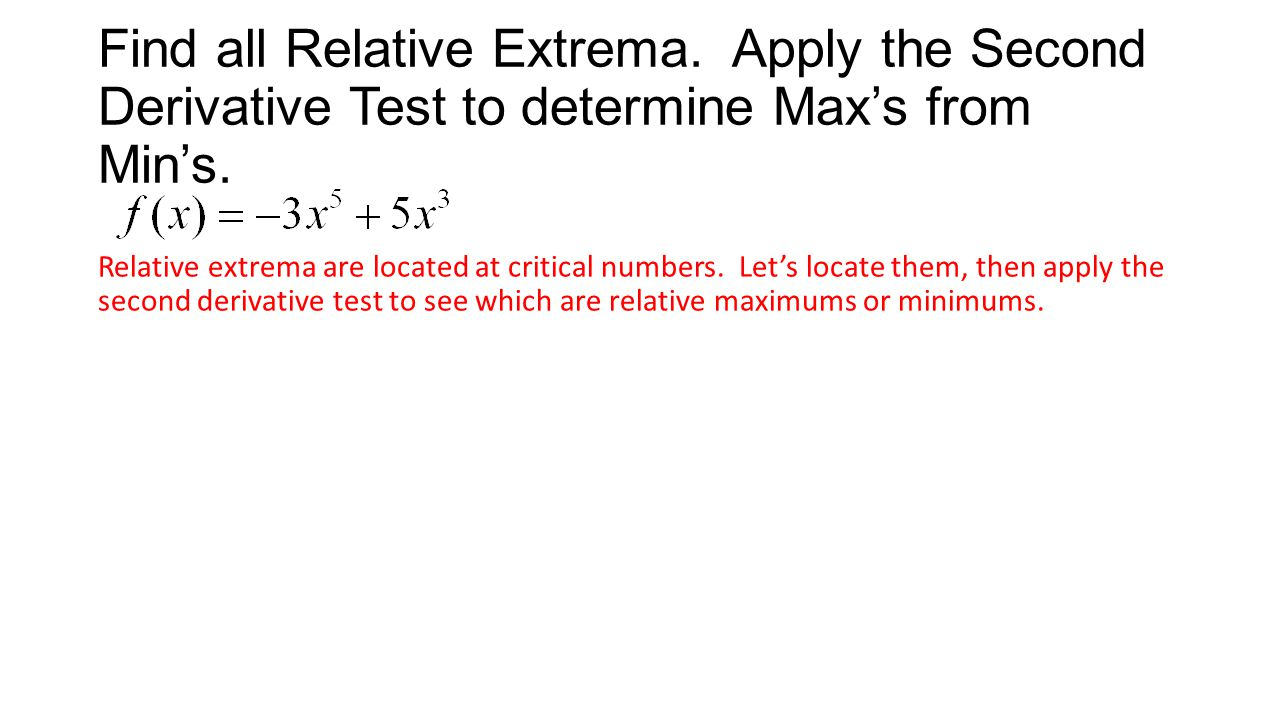 Find all Relative Extrema