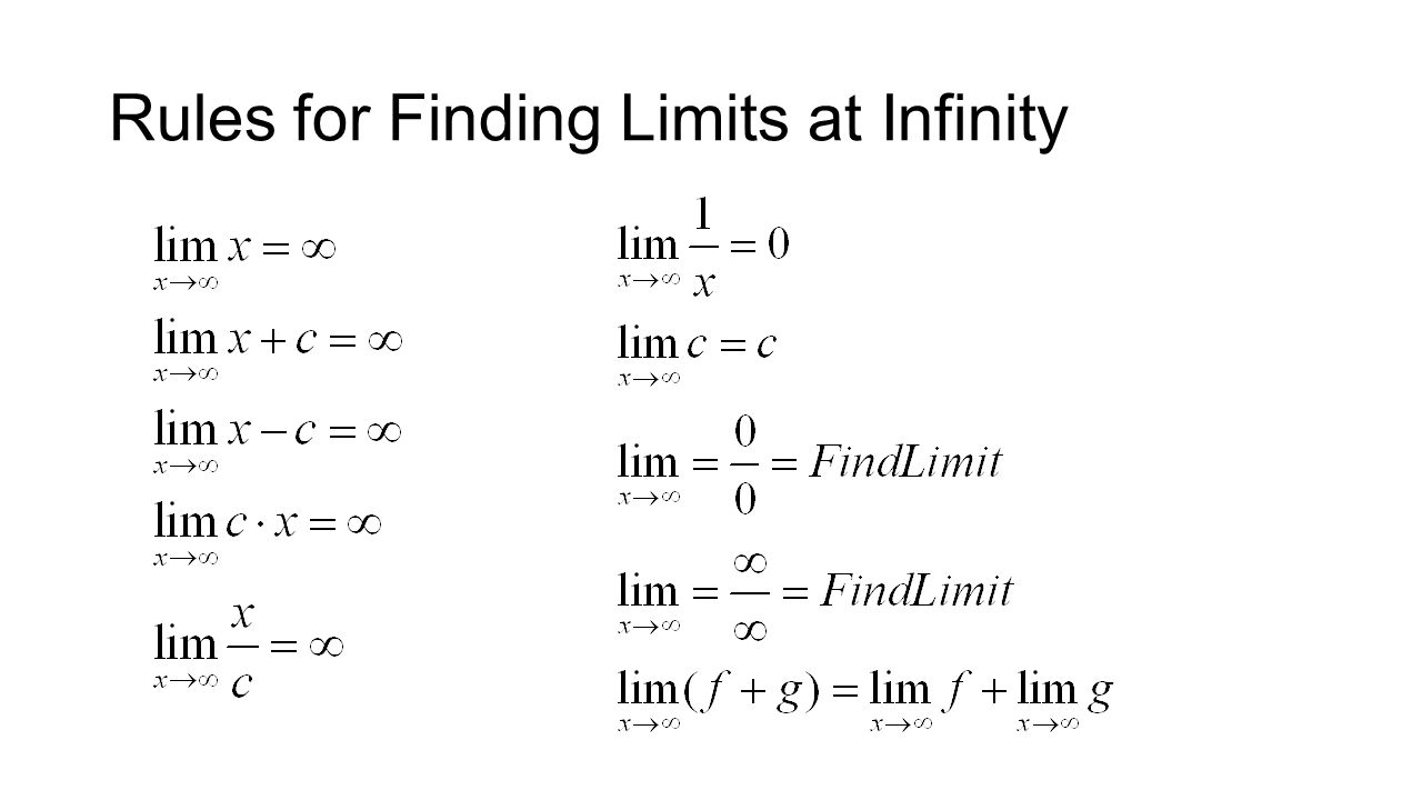 Rules for Finding Limits at Infinity