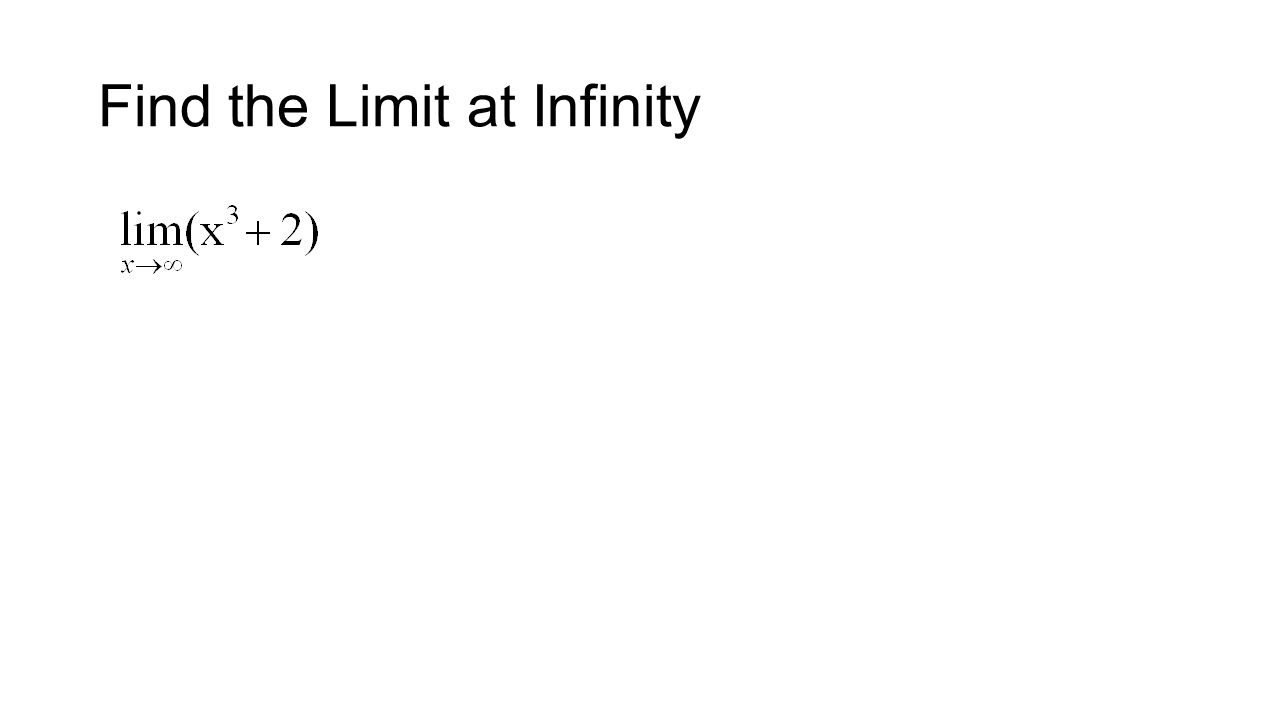 Find the Limit at Infinity