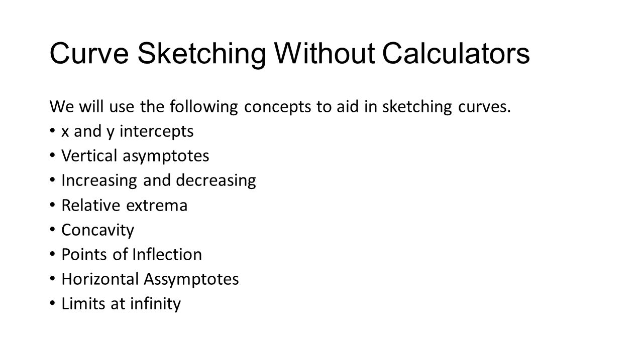 Curve Sketching Without Calculators