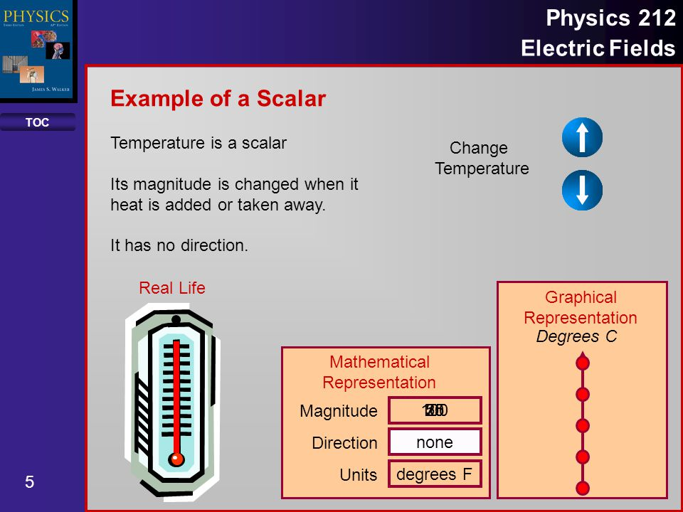 Example of a Scalar Temperature is a scalar