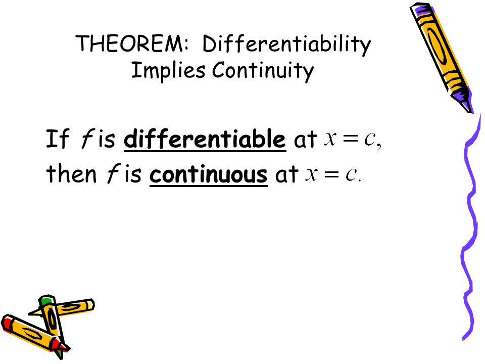 THEOREM: Differentiability Implies Continuity