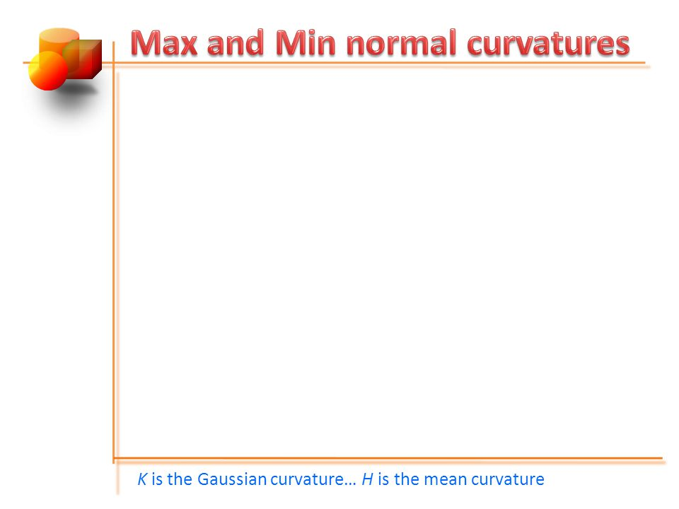 Max and Min normal curvatures