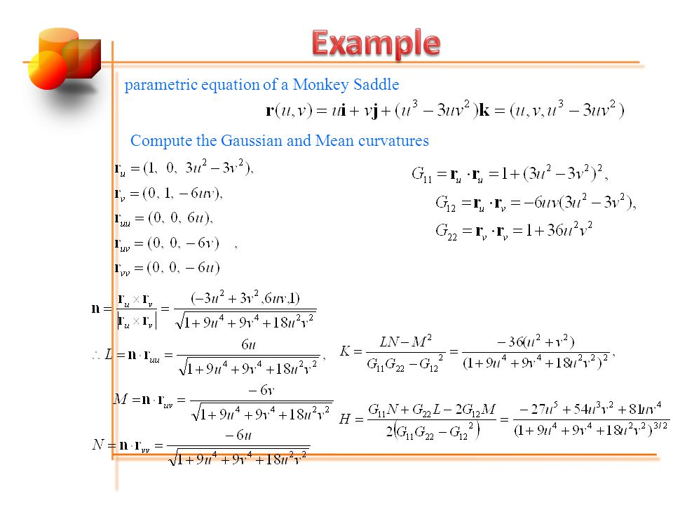 Example parametric equation of a Monkey Saddle