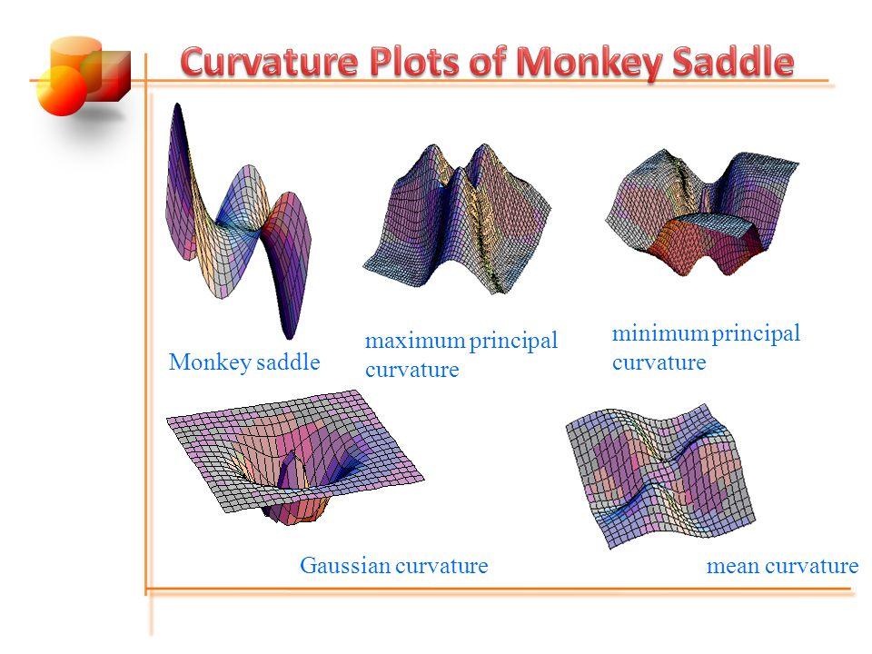 Curvature Plots of Monkey Saddle