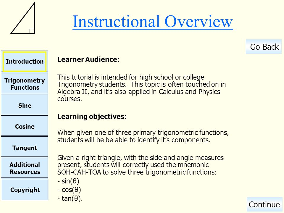 Instructional Overview