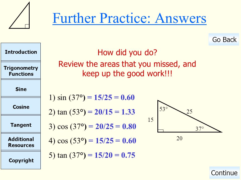 Further Practice: Answers