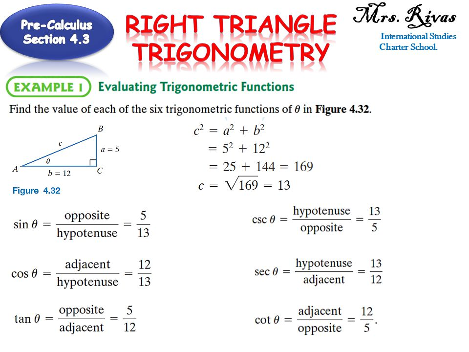 International Studies Charter School. Right Triangle Trigonometry