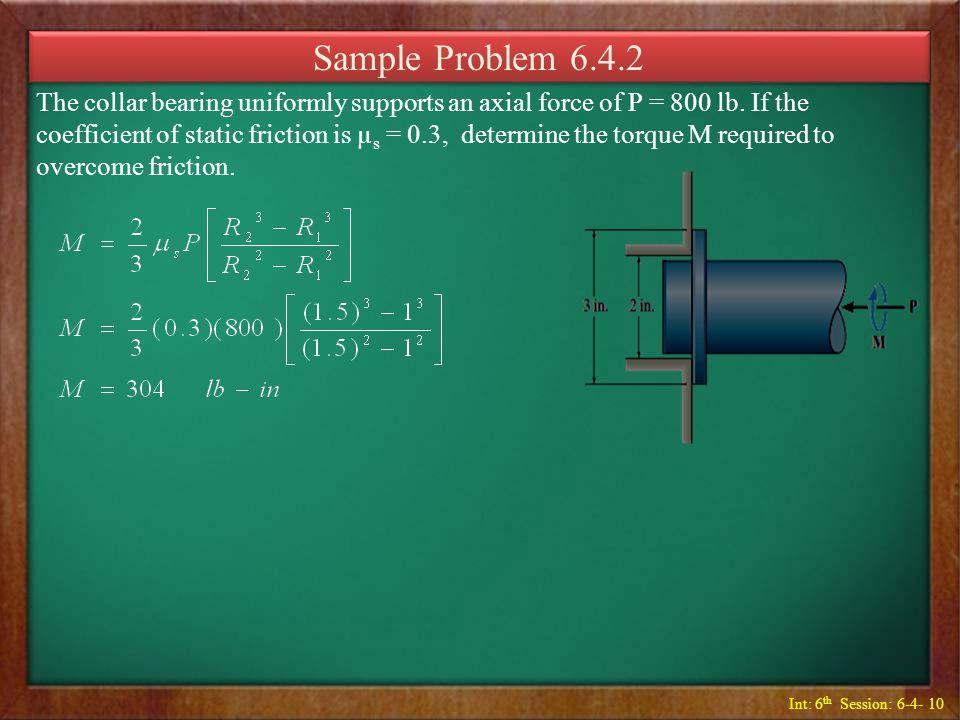 Sample Problem 6.4.2