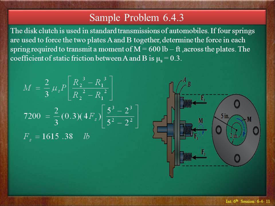 Sample Problem 6.4.3
