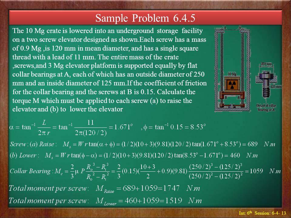 Sample Problem 6.4.5