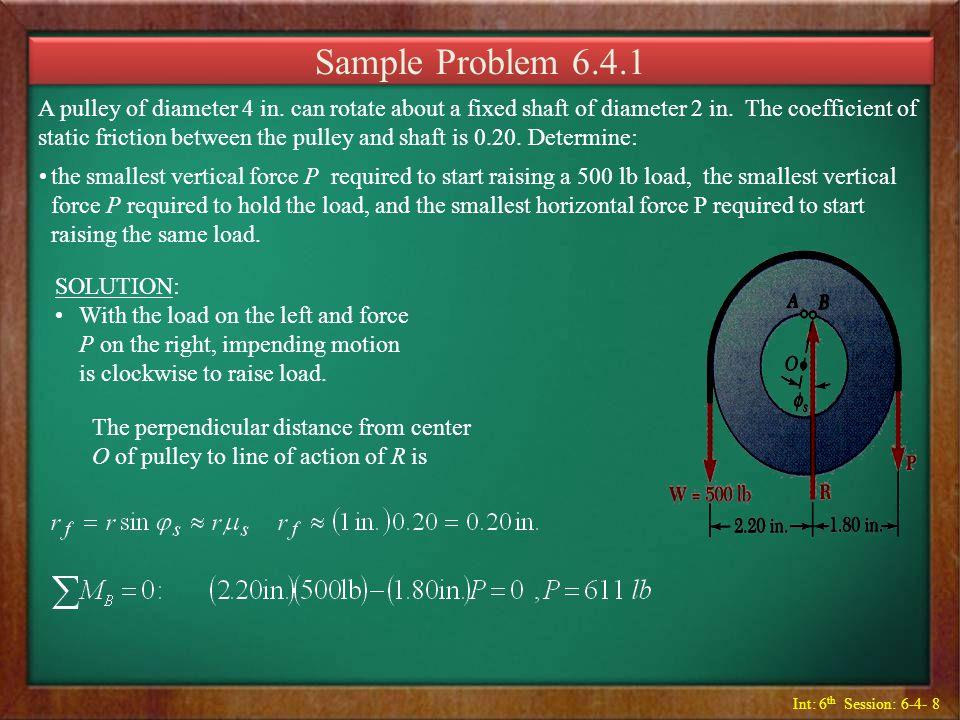 Sample Problem 6.4.1
