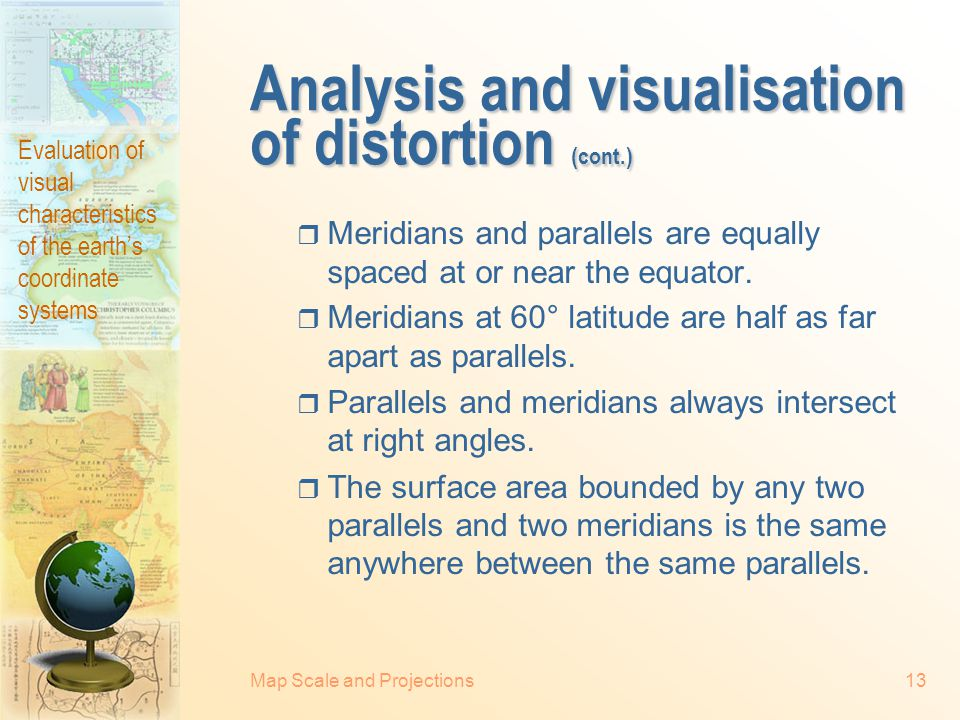Analysis and visualisation of distortion (cont.)