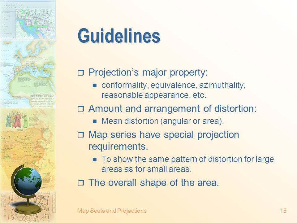 Guidelines Projection's major property: