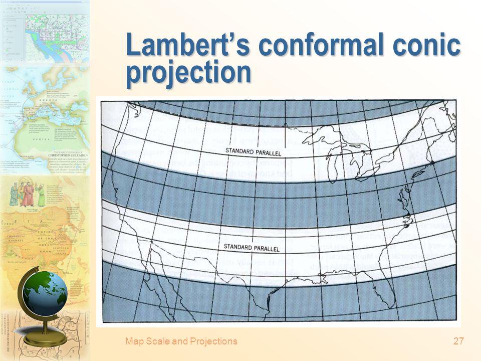 Lambert's conformal conic projection