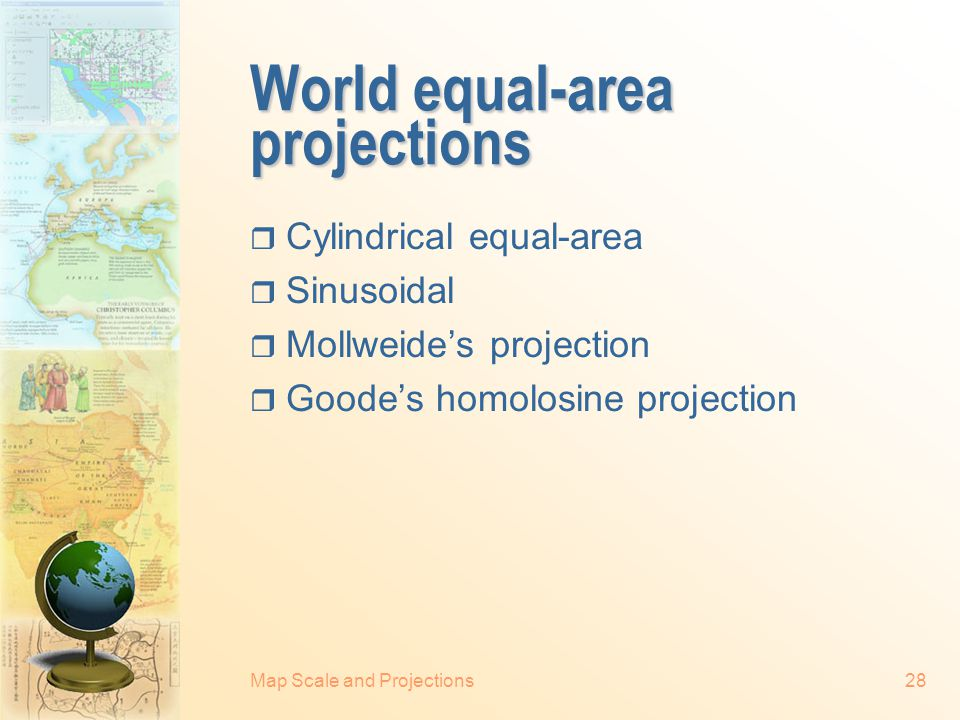 World equal-area projections