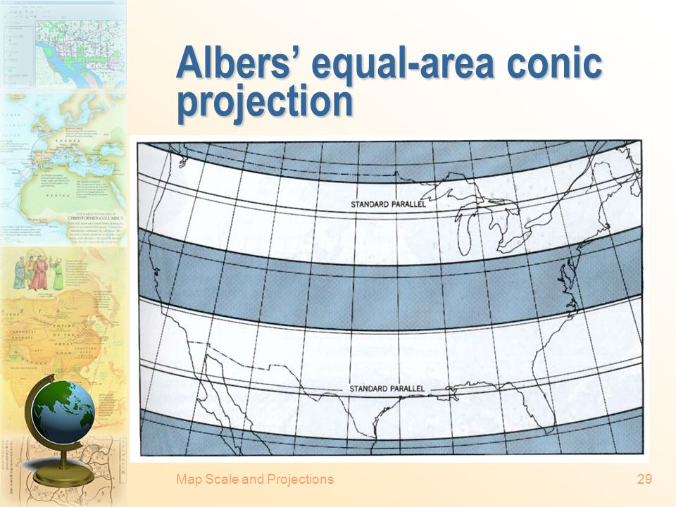 Albers' equal-area conic projection