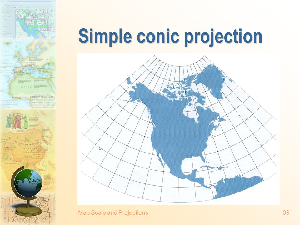 Simple conic projection