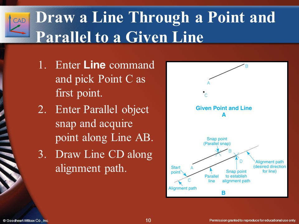Draw a Line Through a Point and Parallel to a Given Line