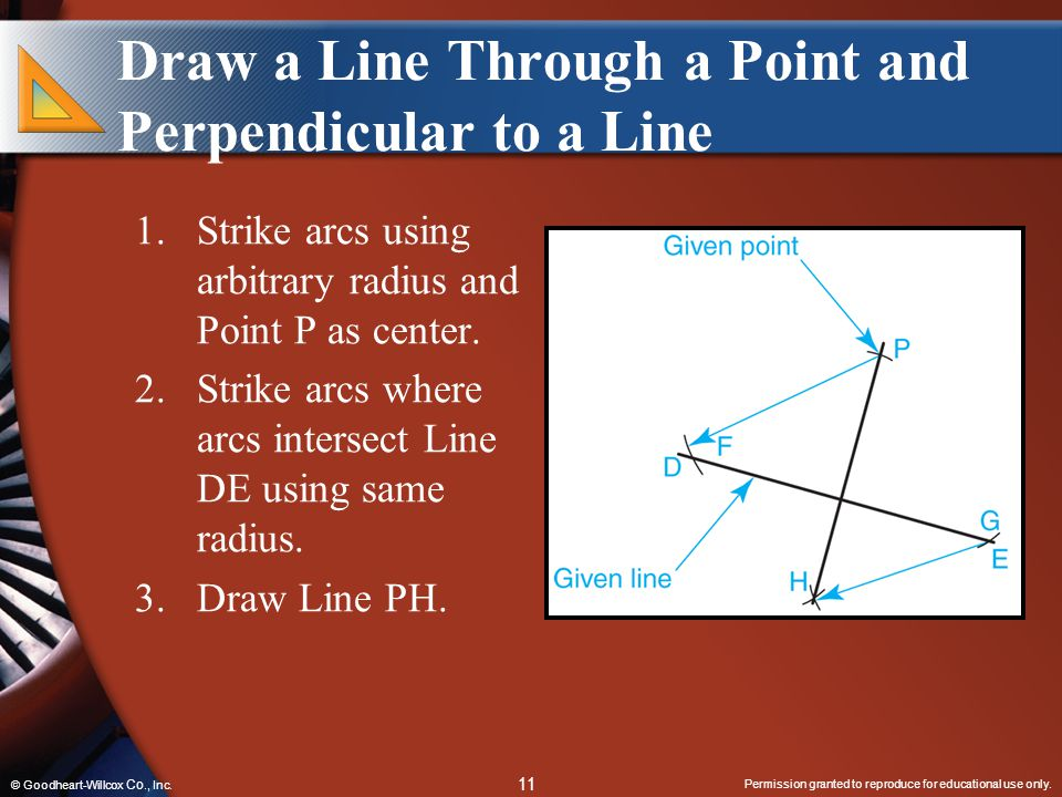 Draw a Line Through a Point and Perpendicular to a Line