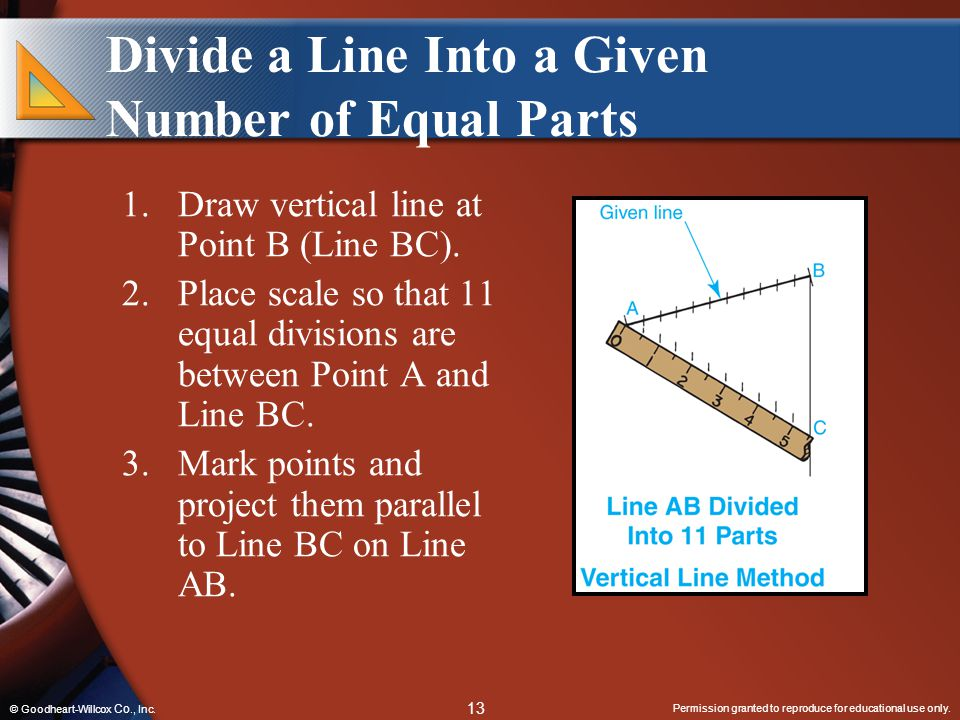 Divide a Line Into a Given Number of Equal Parts