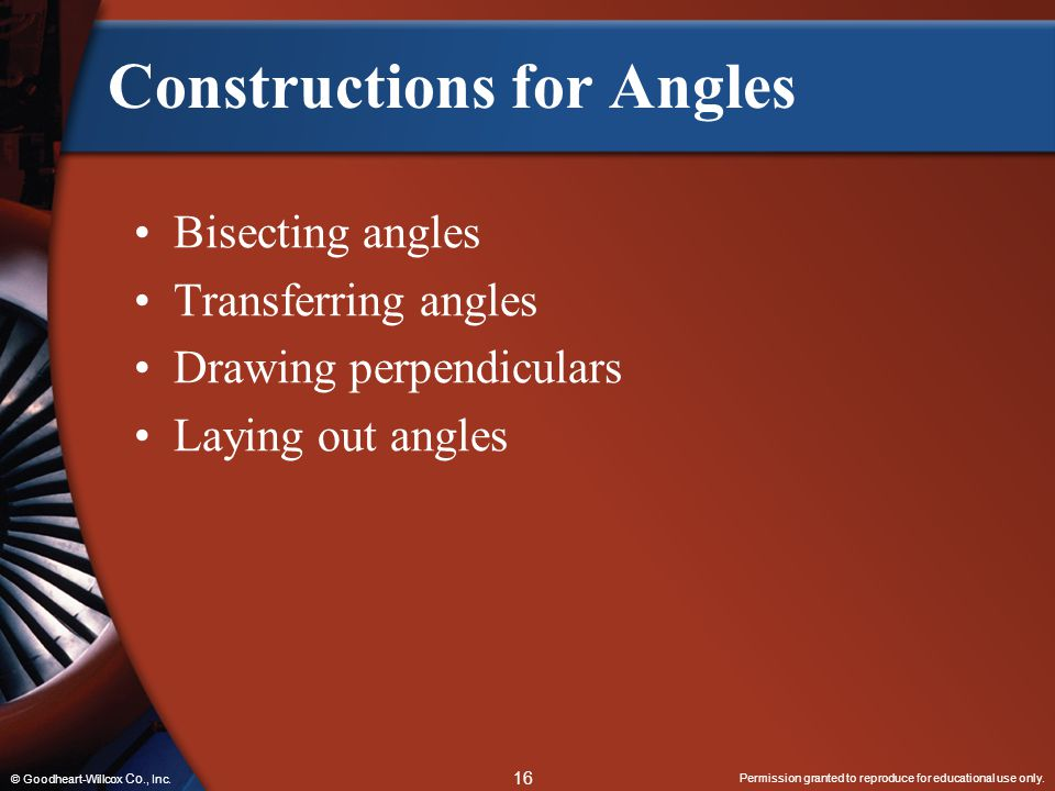 Constructions for Angles
