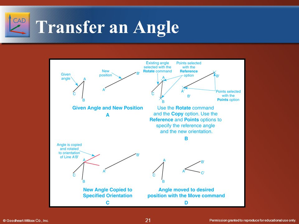 Transfer an Angle © Goodheart-Willcox Co., Inc.