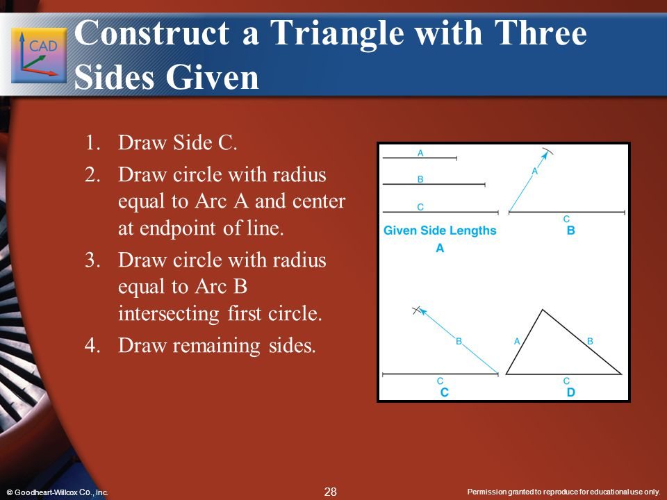 Construct a Triangle with Three Sides Given