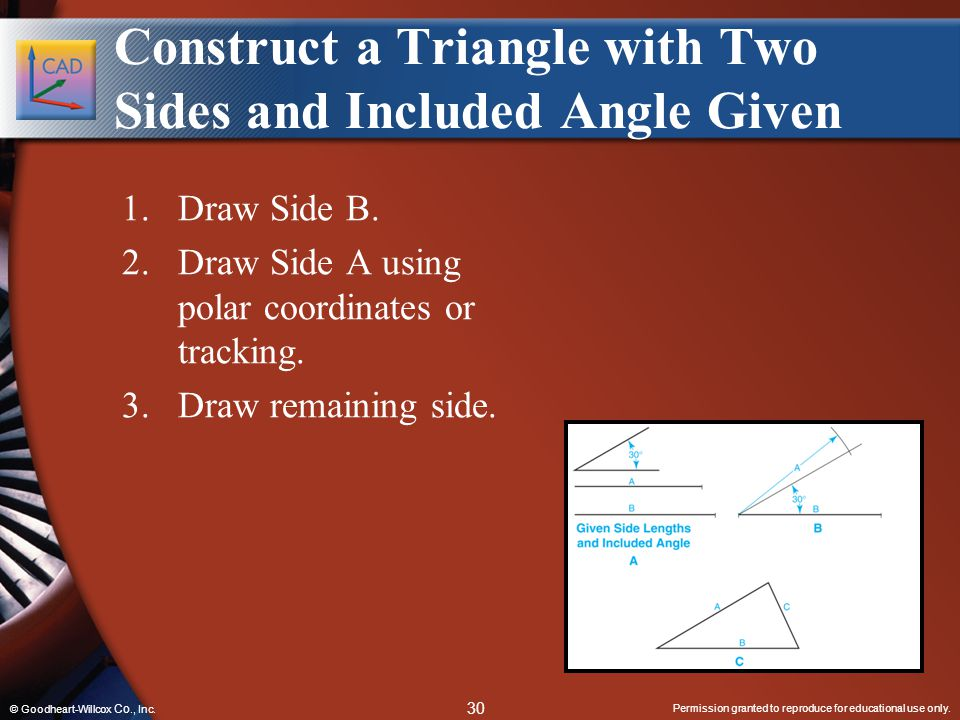 Construct a Triangle with Two Sides and Included Angle Given