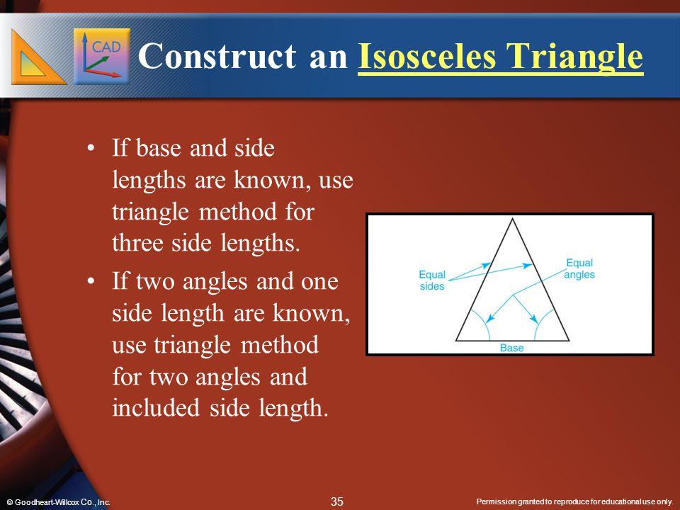 Construct an Isosceles Triangle