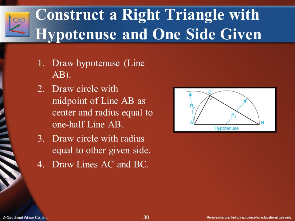 Construct a Right Triangle with Hypotenuse and One Side Given