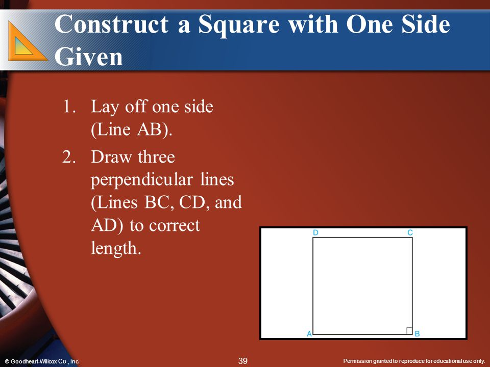 Construct a Square with One Side Given