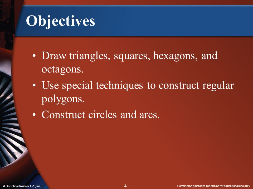Objectives Draw triangles, squares, hexagons, and octagons.