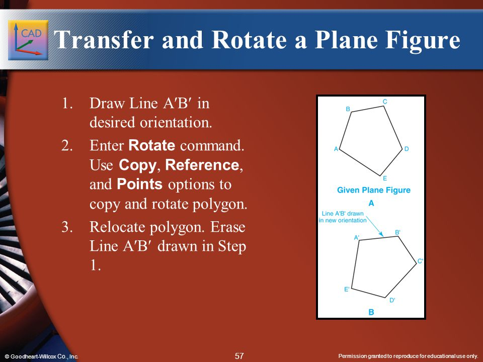 Transfer and Rotate a Plane Figure