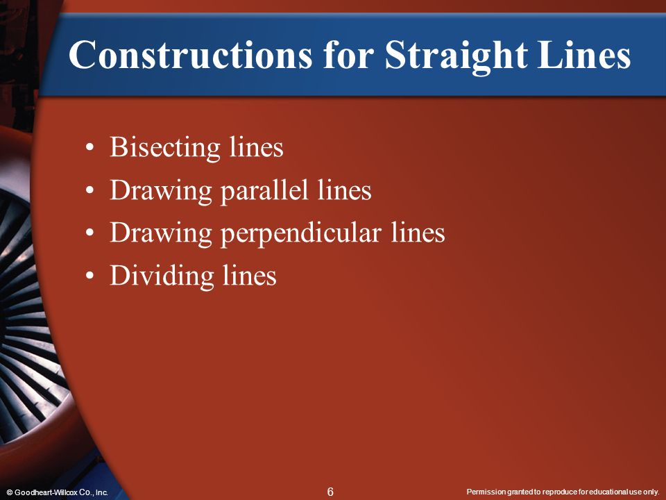 Constructions for Straight Lines