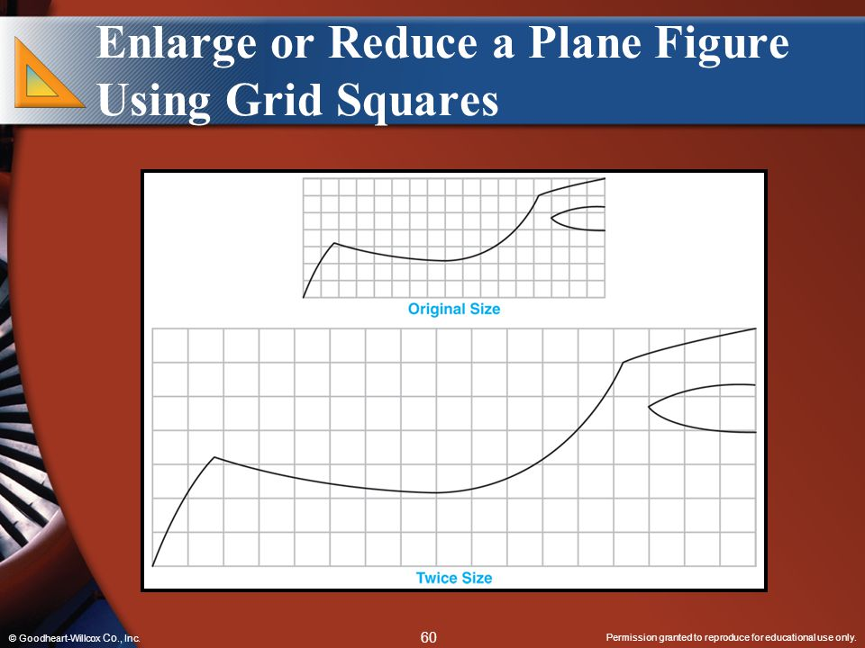 Enlarge or Reduce a Plane Figure Using Grid Squares