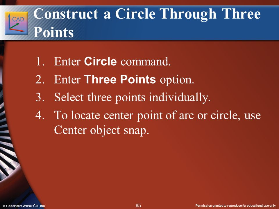 Construct a Circle Through Three Points