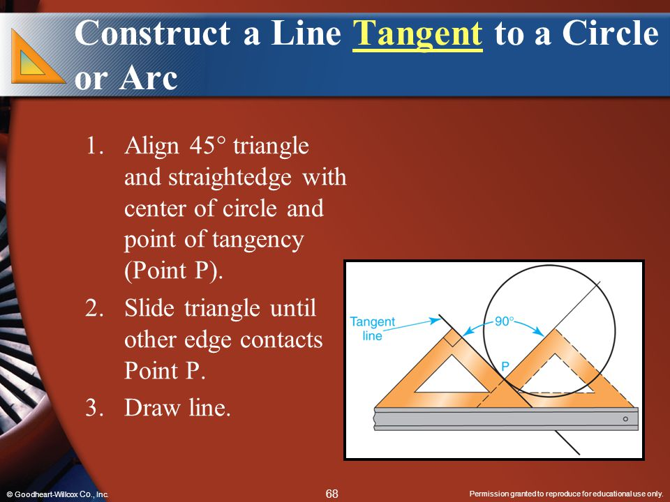 Construct a Line Tangent to a Circle or Arc