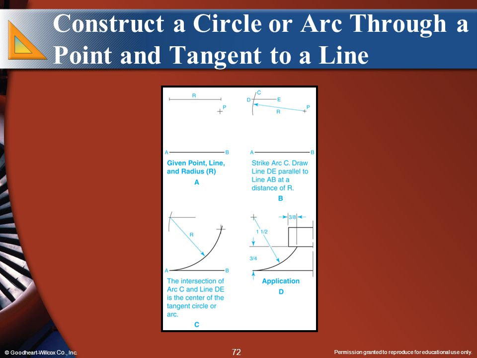 Construct a Circle or Arc Through a Point and Tangent to a Line