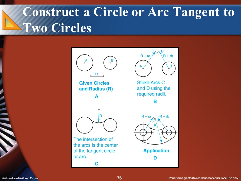 Construct a Circle or Arc Tangent to Two Circles