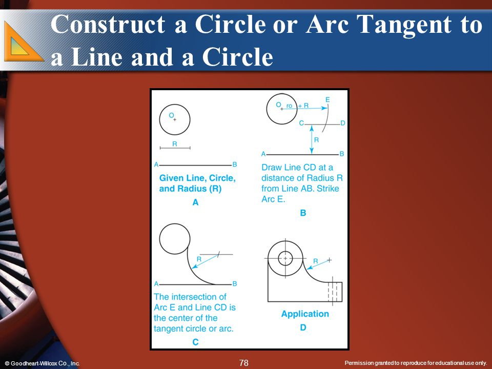 Construct a Circle or Arc Tangent to a Line and a Circle