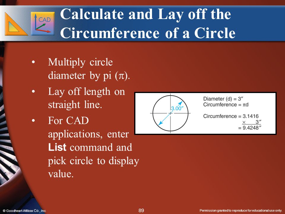 Calculate and Lay off the Circumference of a Circle