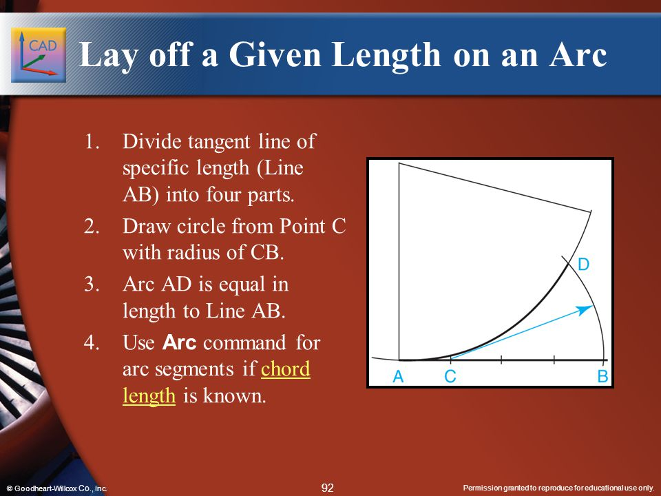 Lay off a Given Length on an Arc