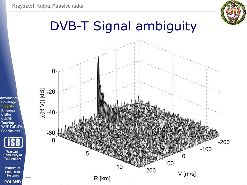 DVB-T Signal ambiguity
