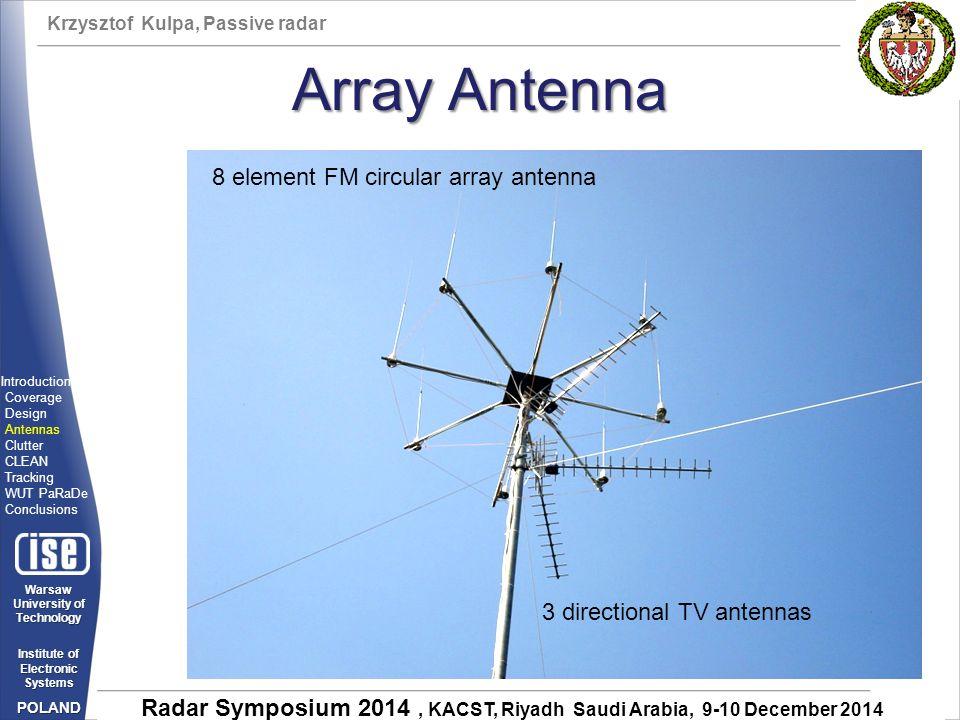Array Antenna 8 element FM circular array antenna