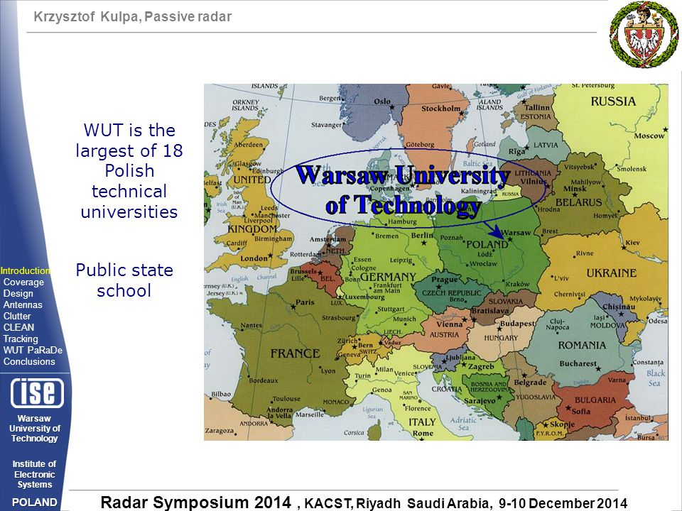 WUT is the largest of 18 Polish technical universities