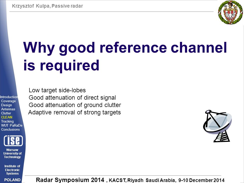 Why good reference channel is required