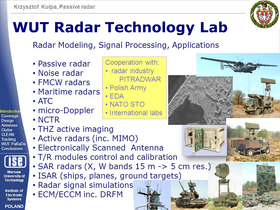 WUT Radar Technology Lab
